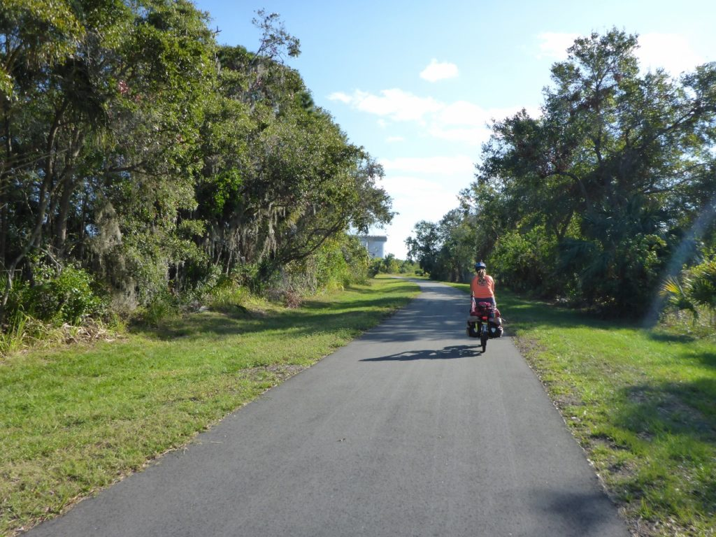 Chris told us about a new bike trail through Titusville.