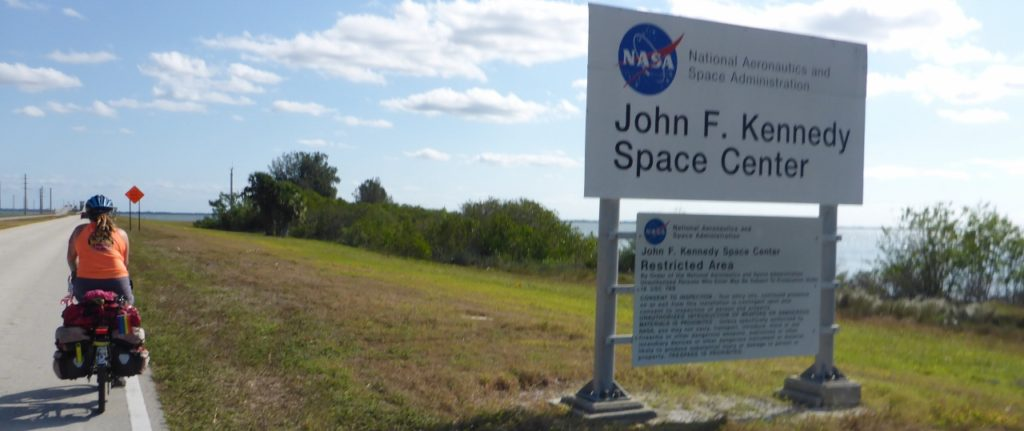 Entering Kennedy Space Center where I used to work.